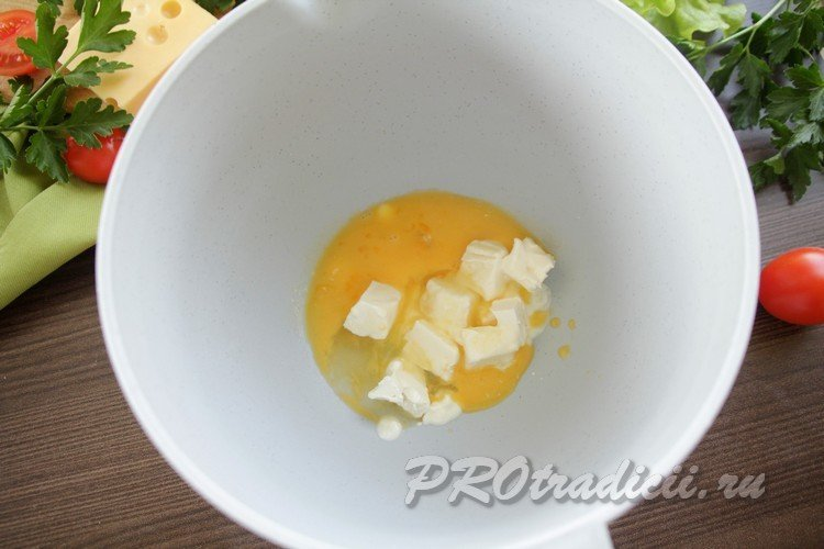 Яйцо с сыром