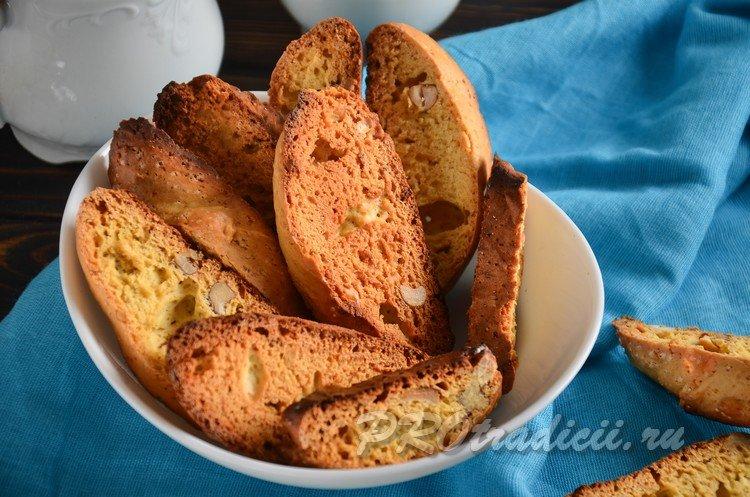 Рецепт итальянского печенья Кантучини в домашних условиях