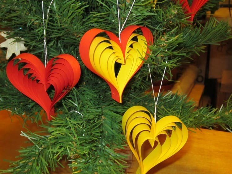 Украшения из бумаги для елки