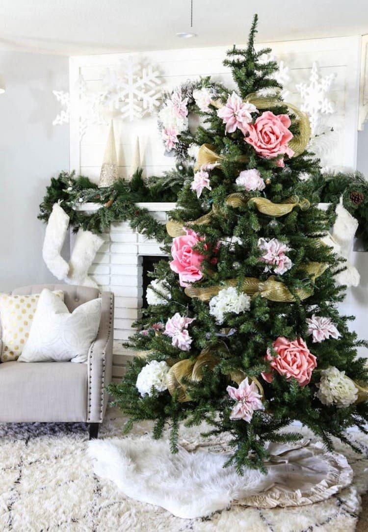 Цветочки на елке