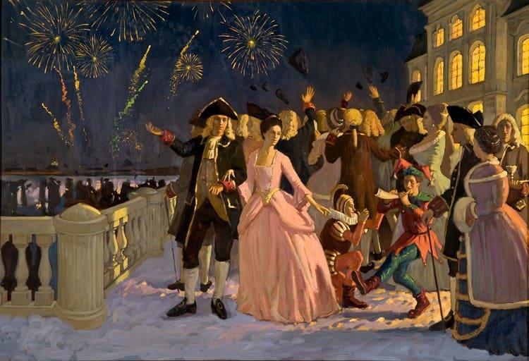 Новогодний бал при Петре I
