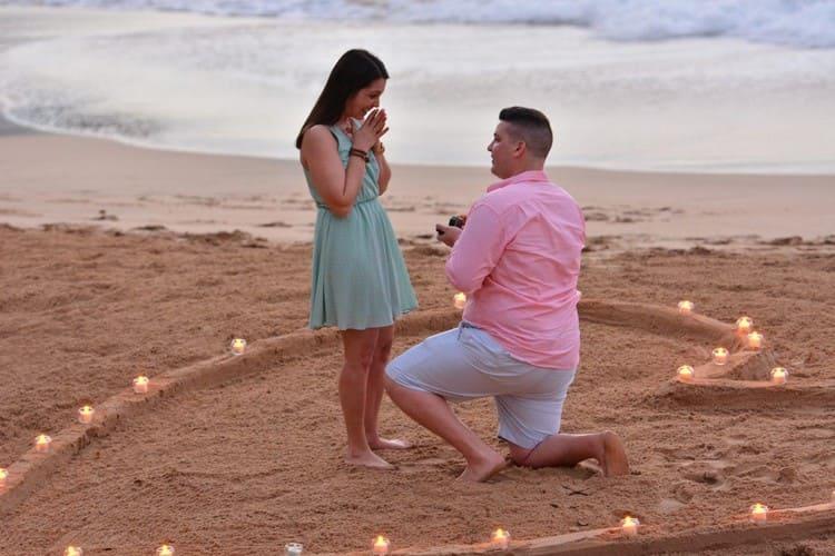 Романтическое предложение выйти замуж