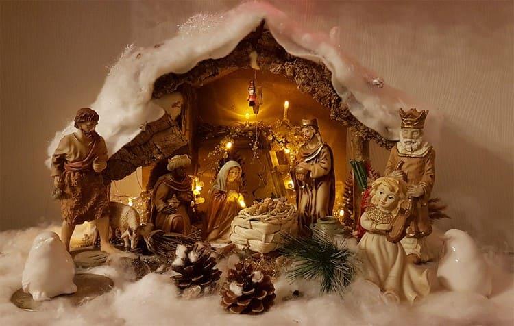 Вертеп на Рождество