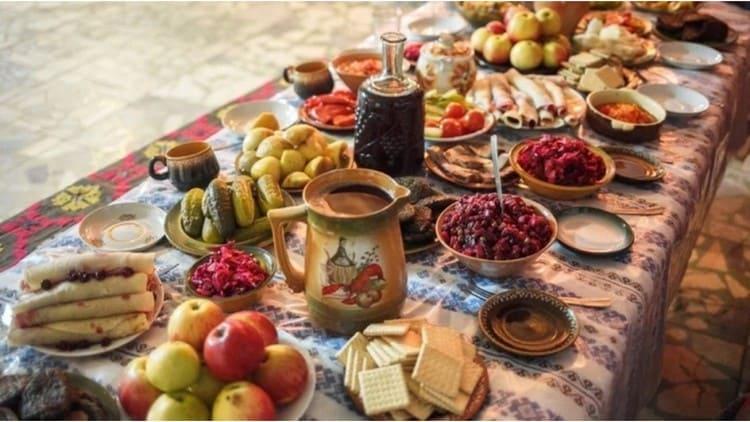 Рождественский стол на Руси