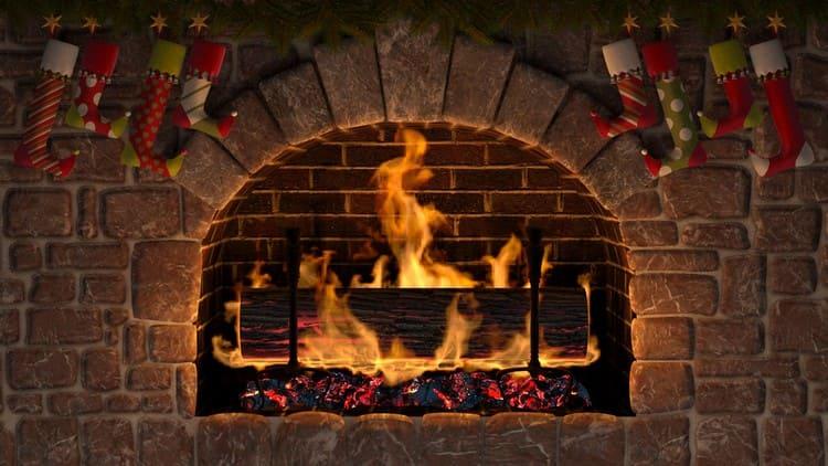 Сжигание рождественского полена