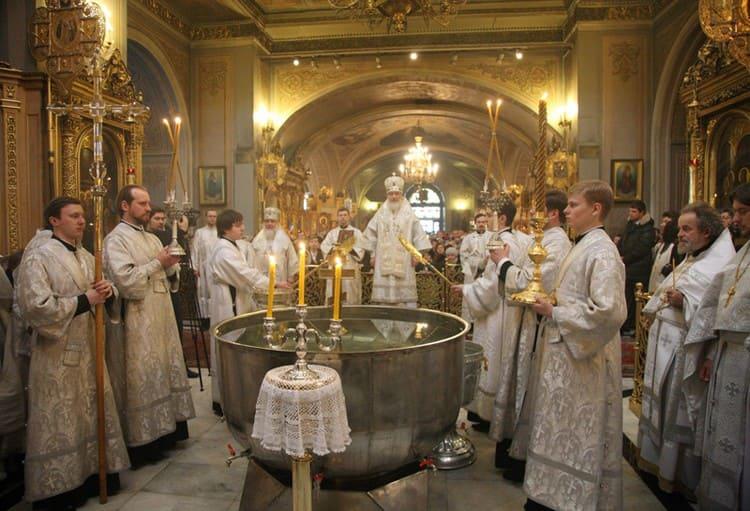 Праздник Крещения в храме