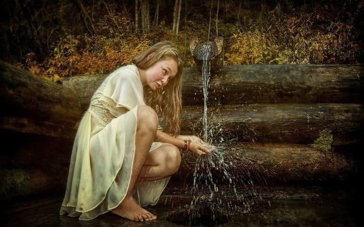 Умыться родниковой водой на Пасху
